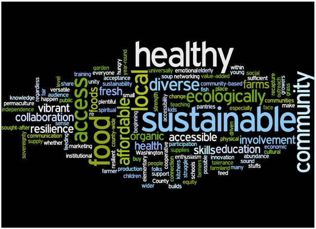 Word Cloud - Washington County Food System Vision